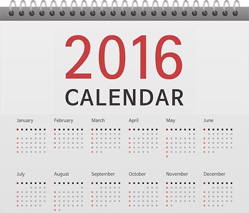 2016년 달력 캘린더 - 월별 공휴일 연휴 쉬는날 기념일 24절기