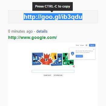 구글 url 단축