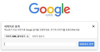 구글 이미지 서치 - 이미지 URL 붙여넣기 검색