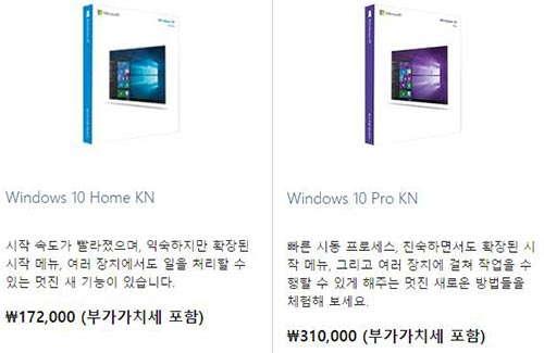 윈도우10 가격